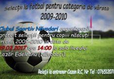CS Năvodari face selecție pentru viitorii fotbaliști