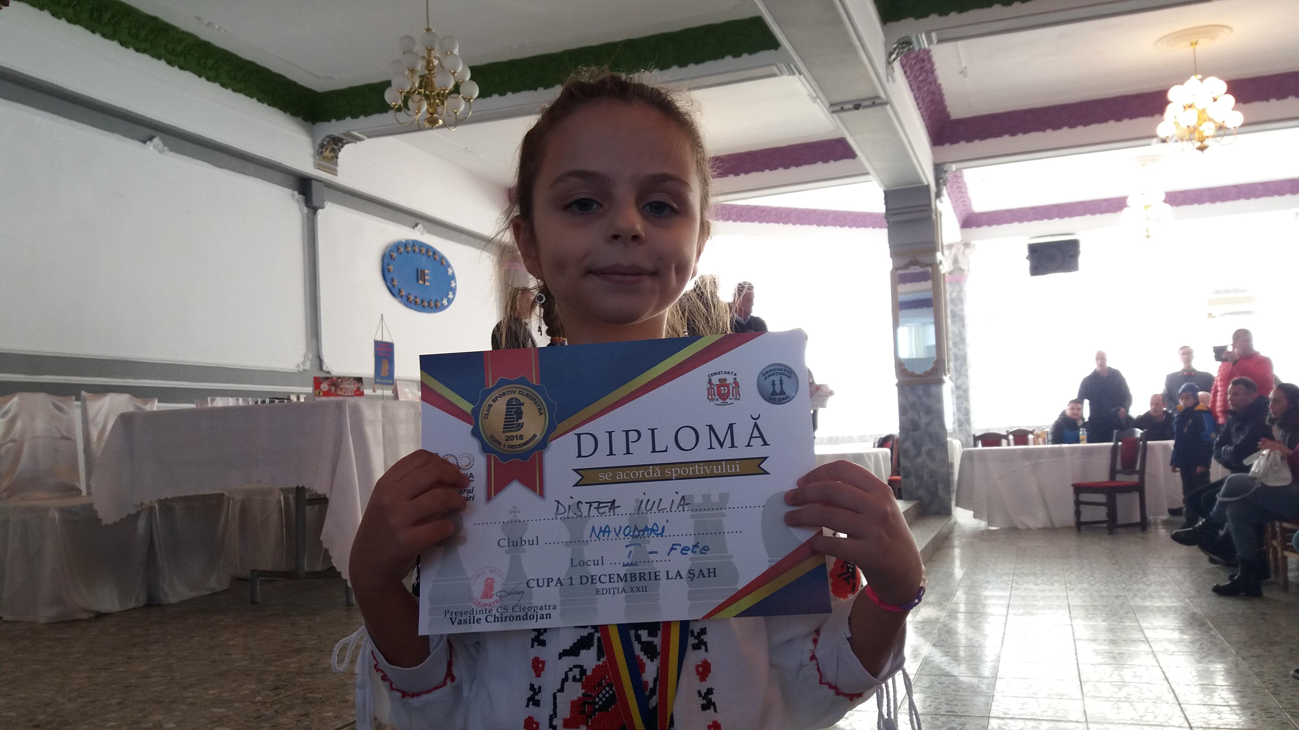 """Medalii pentru șahiștii de la CS Năvodari la """"Cupa 1 Decembrie"""""""