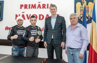 Campionul european Cezar Andrieș a fost felicitat la Primăria Năvodari