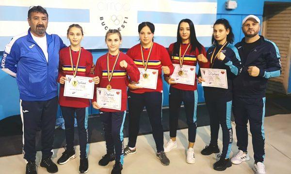 Patru titluri de campioane pentru CS Năvodari la Naționalele de box feminin